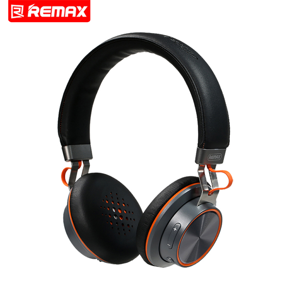 Remax RB-195HB Bluetooth Stereo Headphones Wireless Headphones Bluetooth 4.1 Headset Over The Ear Headphones Connect 2 Devices remax 2 in1 mini bluetooth 4 0 headphones usb car charger dock wireless car headset bluetooth earphone for iphone 7 6s android