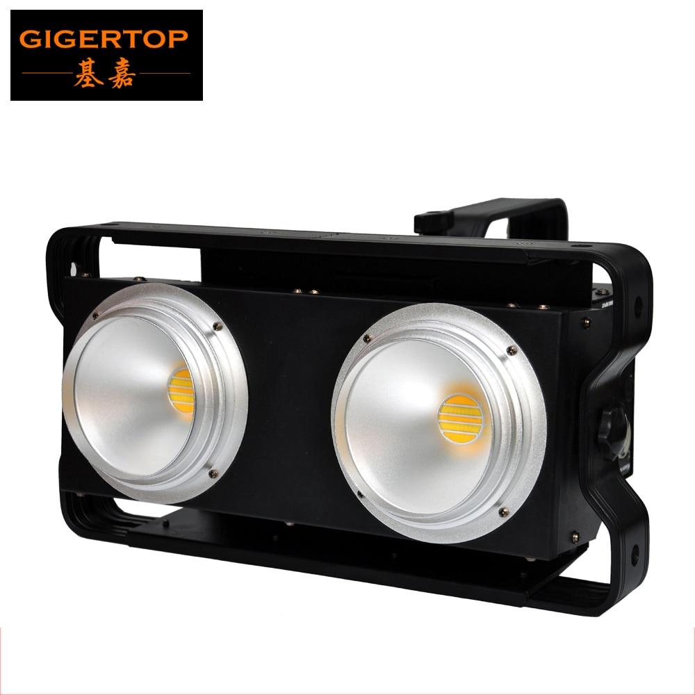TIPTOP 20 Pack 2x100W Led Audience DMX512 Blinder Light 2 Eyes Warm White/Cold White/2in1  DJ Stage Lighting Professional Light