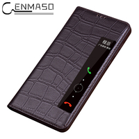 Fashion Genuine Leather Case For Huawei P20 Pro Flip Cover Sleep Wake Up Capa For Huawei