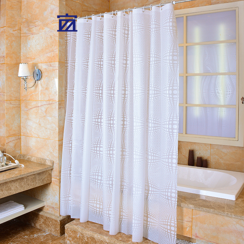 High Quality Aliexpress.com : Buy PEVA Shower Curtain Solid Color Fabric Plain White  Circles Waterproof Mould Proof Bathroom Curtains Cortinas Cortina Ducha  From ...