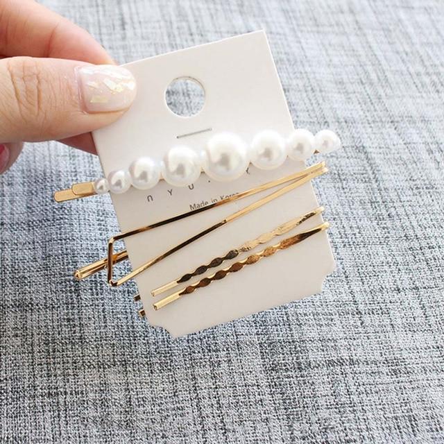 M MISM Pearls Hair Clips for Women Fashion Sweet Imitation Korean Style Hairpins Alloy BB Headmade Girls INS Hair Accessories 2