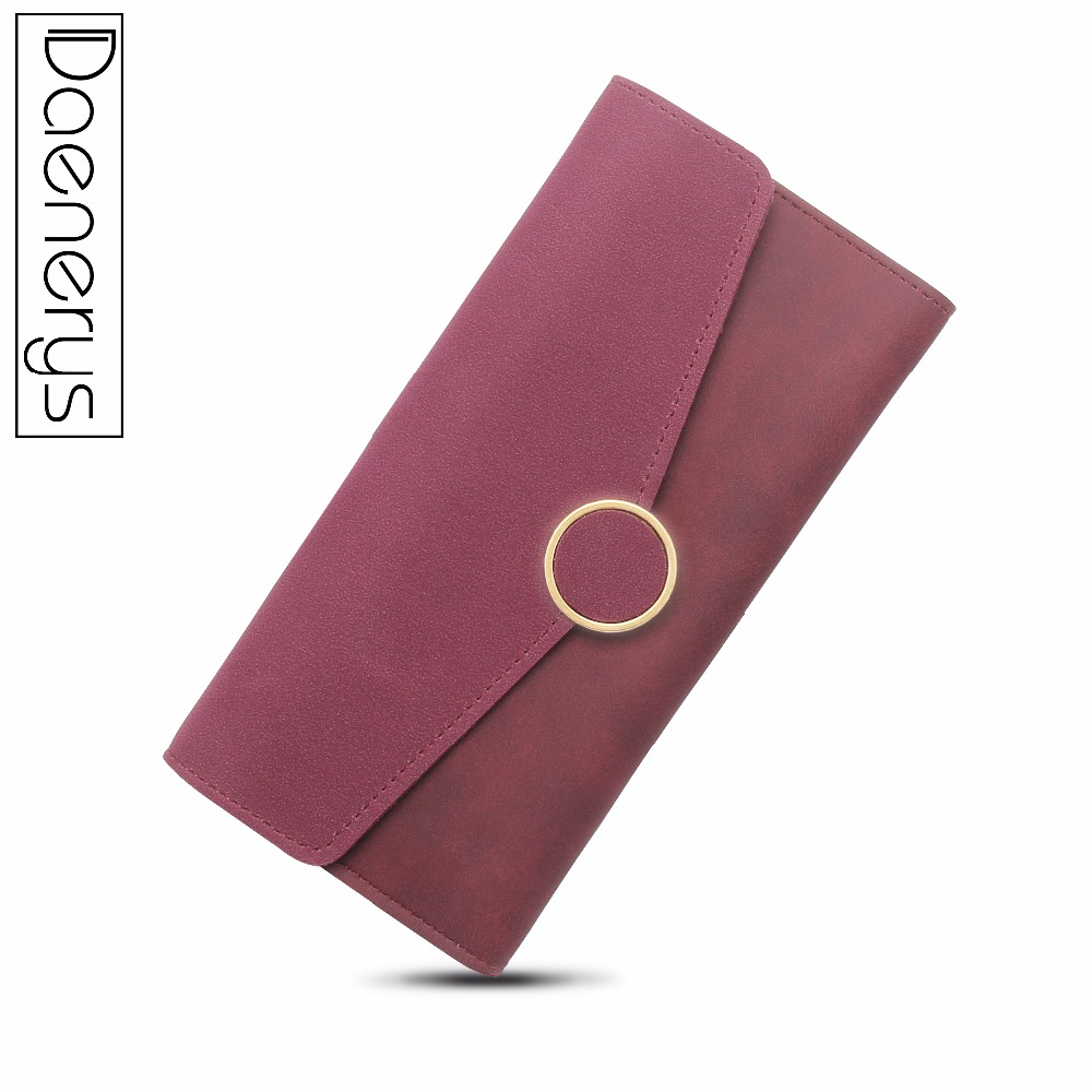 Daenerys Top Quality Latest Suede Long Women Wallet Zip Leather Fashion Girls Change Purse Money Coin Purse Card Holders 2017 hot sale lovely leather long women wallet fashion girls change clasp purse money coin card holders wallets carteras