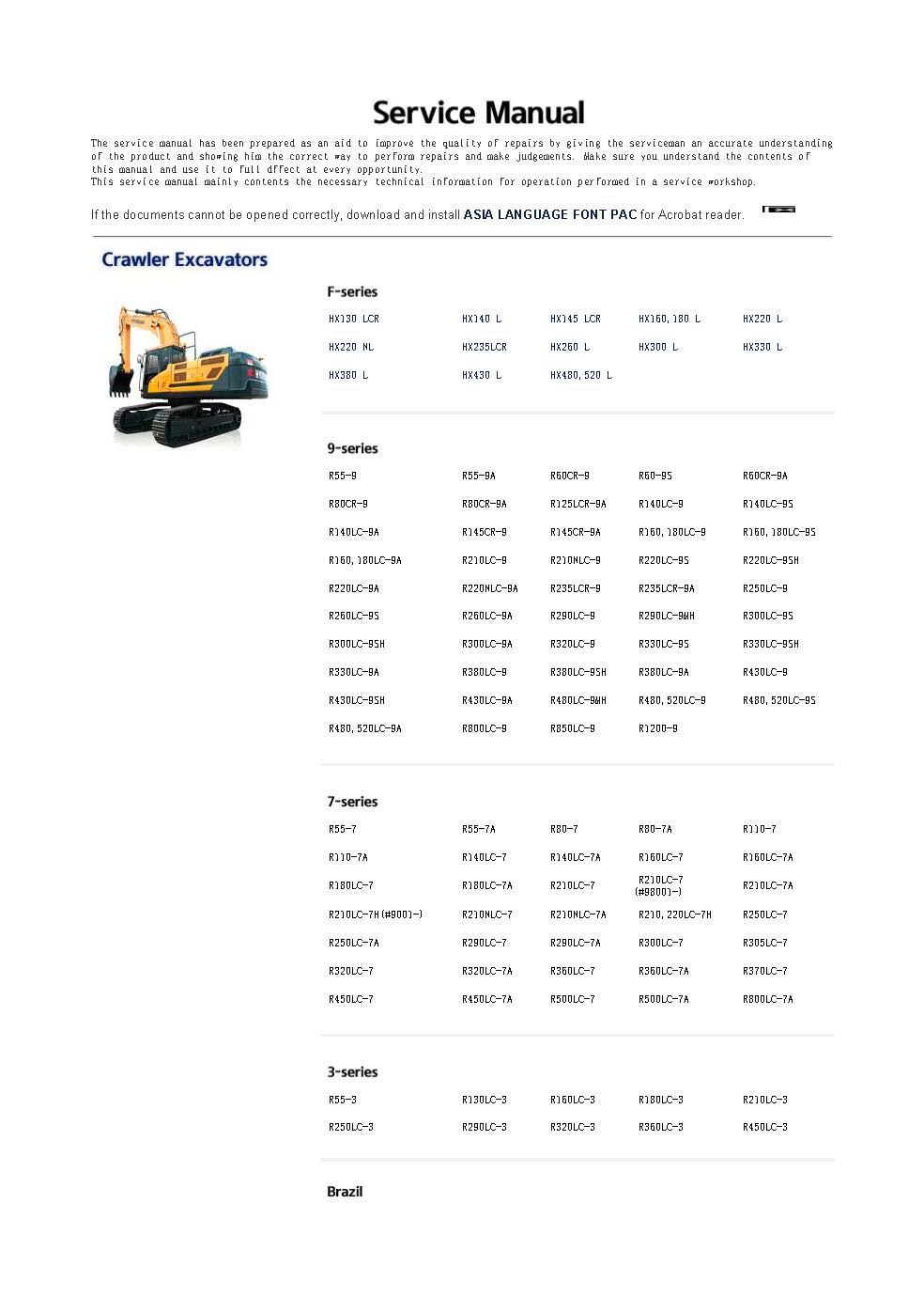 Для hyundai robex Construction equipment + руководства по обслуживанию двигателя и монтажные схемы 2019 полный комплект