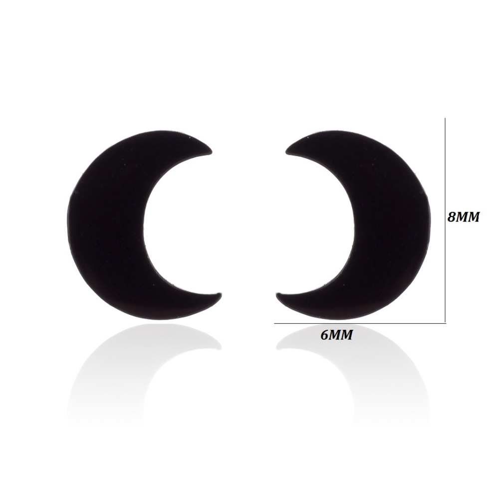 2019 New Simple Crescent Moon Earrings for Women Girls  Tiny Half Moon Stud Earring Jewelry Birthday Gifts