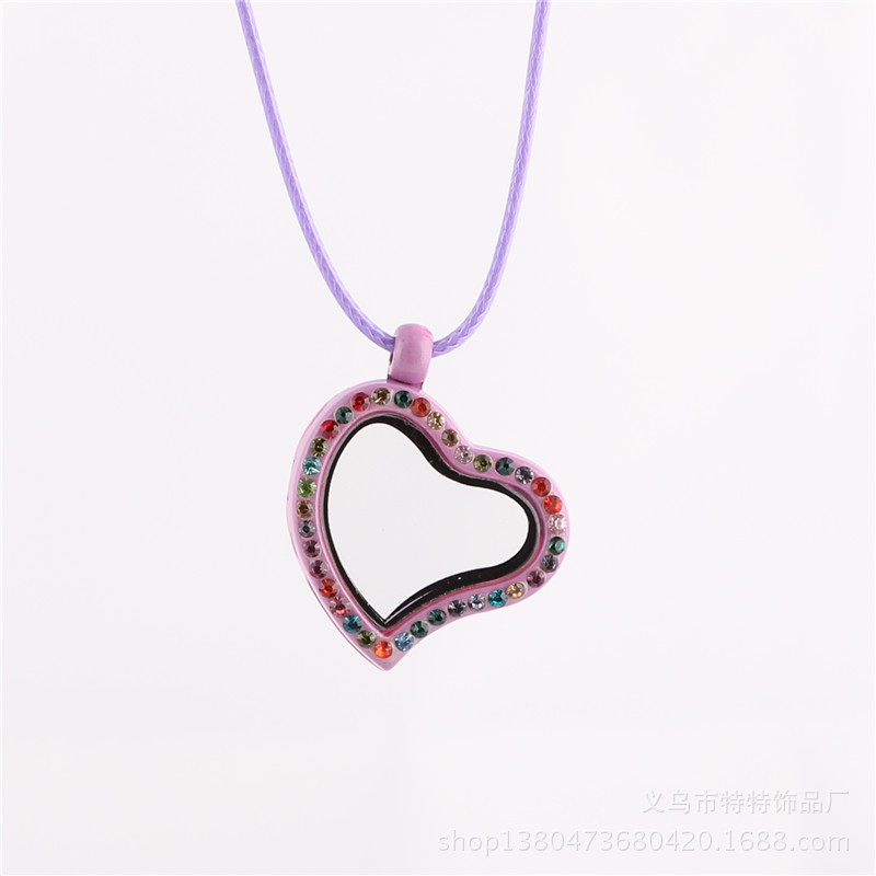 Wholesale Fashion Necklaces For Kids Colorful Origami Owl Floating