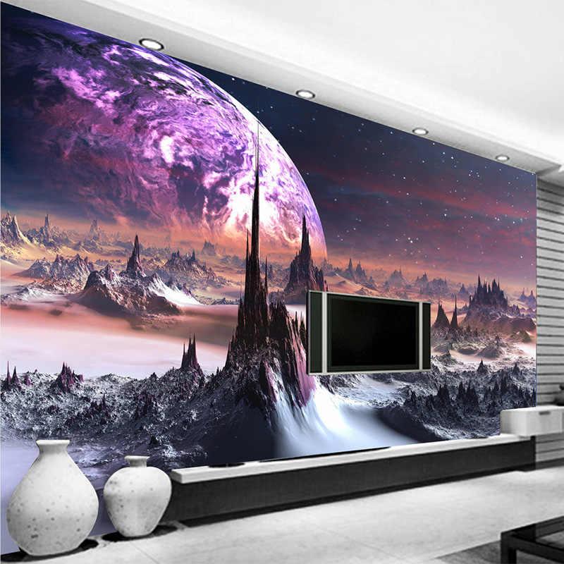 Spersonalizowana personalizacja gwiazda wszechświat fototapeta 3D Stereo wytłoczony nowoczesny dekoracyjny mural ścienny tapeta Papel De Parede 3D
