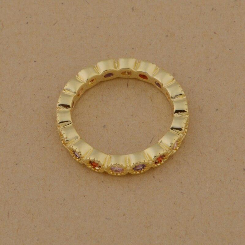 golden colorful zircon shining Silver plated Ring Fashion Jewerly Ring Women&Men , /UQXMDSQF VBRNOJSI