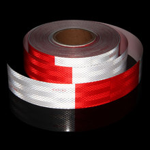 12X 2 DOT Reflective Tape  Red And White DOT-C2 Conspiciuity Commercial Roll For Truck Car Adhesive Sticker Film