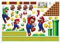 Super Mario Bros Mural Removable Wall Sticker DIY Vinyl Decal Kids Room Decor il