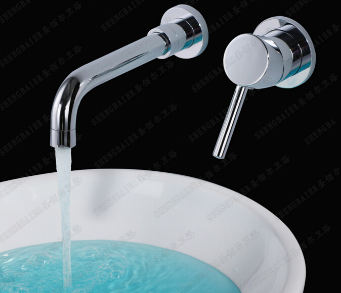 fashion chrome brass single lever hot and cold in-wall sink faucet bathroom basin faucet,tap mixer micoe hot and cold water basin faucet mixer single handle single hole modern style chrome tap square multi function m hc203