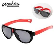 Очки Детские поляризованные TR90 гибкий безопасная оправа оттенков модные очки для детей оттенков для мальчиков/девочек UV400