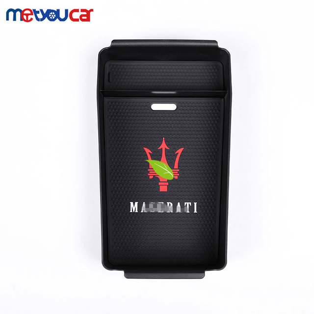 For Maserati Ghibli For Levante For Quattroporte 2013-2017 Car Styling Glove Armrest Storage Box With Logo and mat Accessories