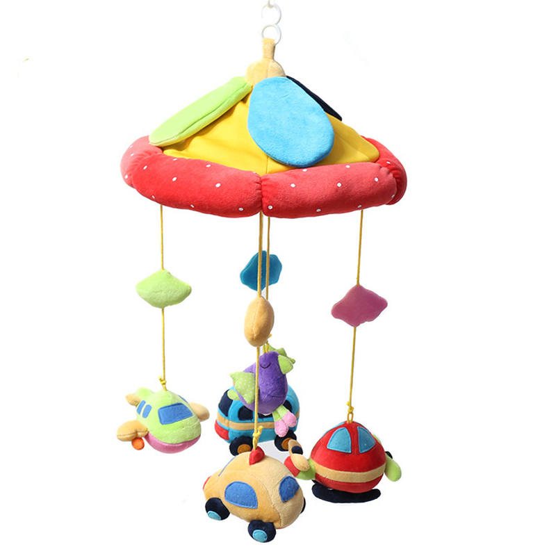 цена 0-24m The Music Box Music Plush Animal Rotating Bed Bell Baby Mobile Crib Baby Toys For Newborns Baby Toys WJ335