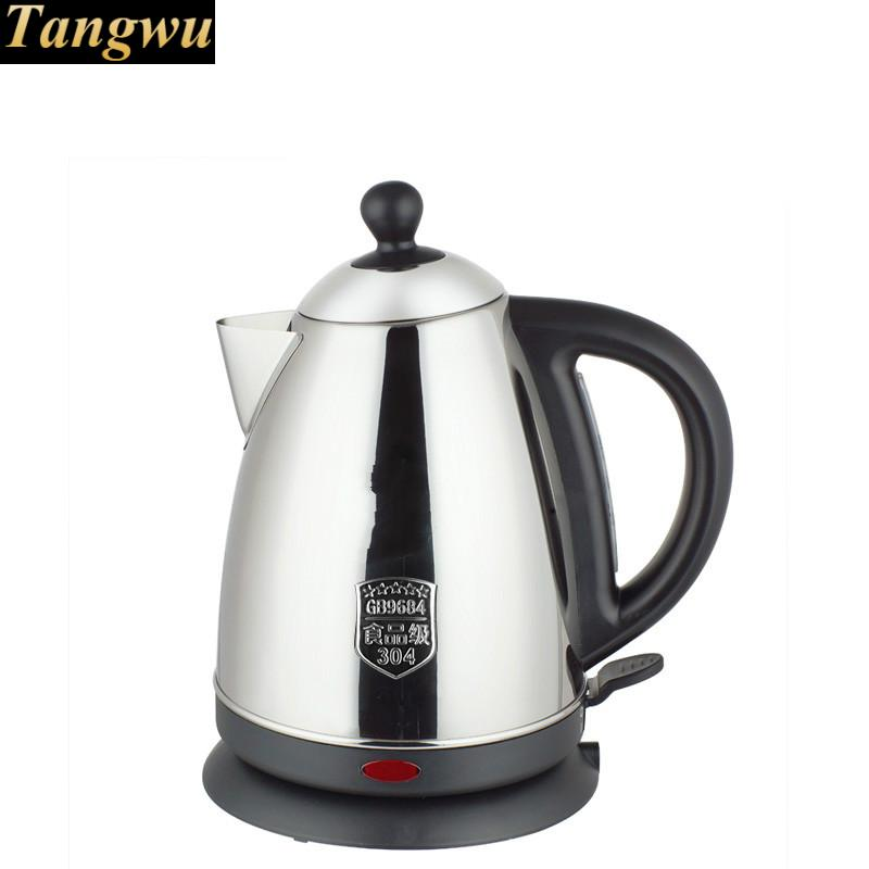Electric kettle 304 stainless steel teapot boiling water small capacity electric kettle double insulation 304 stainless steel health care foam teapot