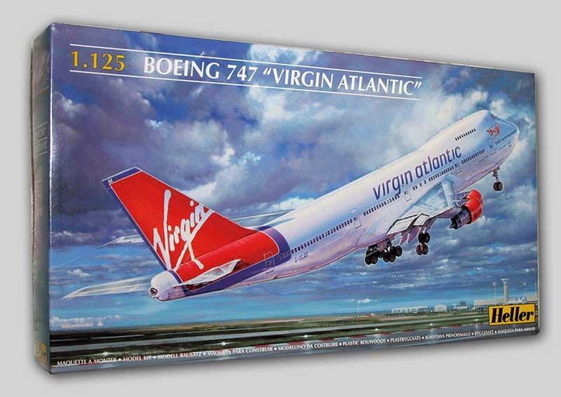 Out of print! heller 80470 1/125 boeing 747 VIRGIN ATLANTIC plastic model kit