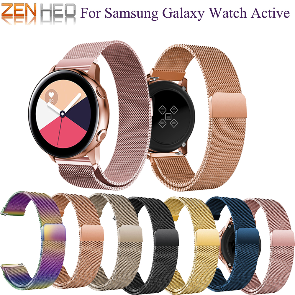 For Samsung Watch Galaxy Bracelet Galaxy Active / Active 2 40/44mm Watch Band Milanese Loop For Samsung Galaxy Watch 42mm Strap
