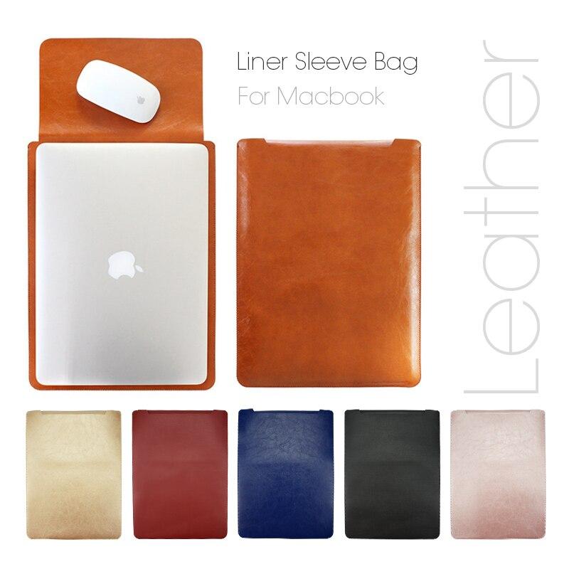 Einfache leder holster liner für apple macbook air Pro Retina 11 12 13 15 laptop Fall Für Mac 13,3 zoll