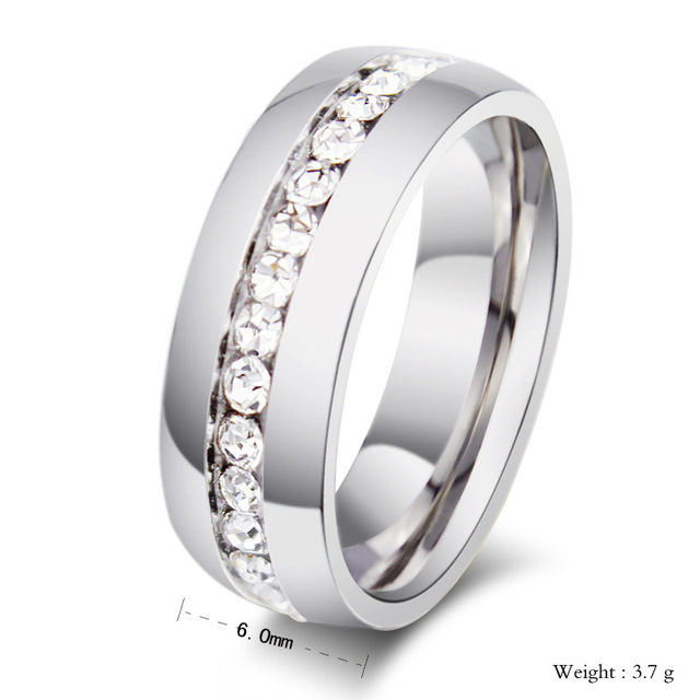 Fashion wedding rings for women and men ring silver plated titanium steel Brand Full Created Diamond rings fine Jewelry LR10