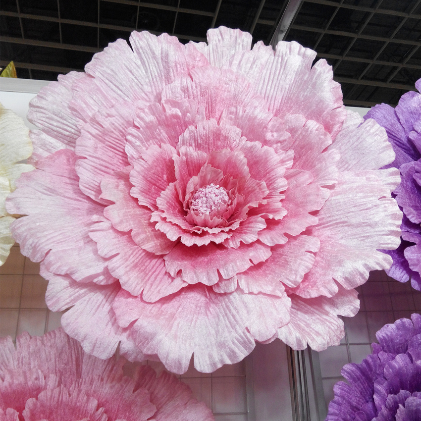 Paper Flowers Wedding Decoration Background Idea