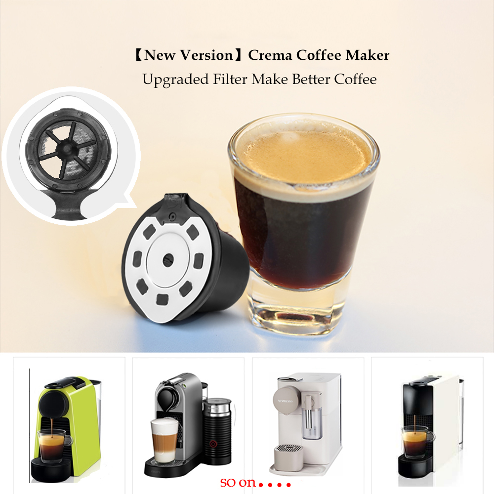 Upgraded Version 3/4pcs Refillable Coffee Capsule For Nespresso Coffee Machine Refillable Capsule Reusable Filter