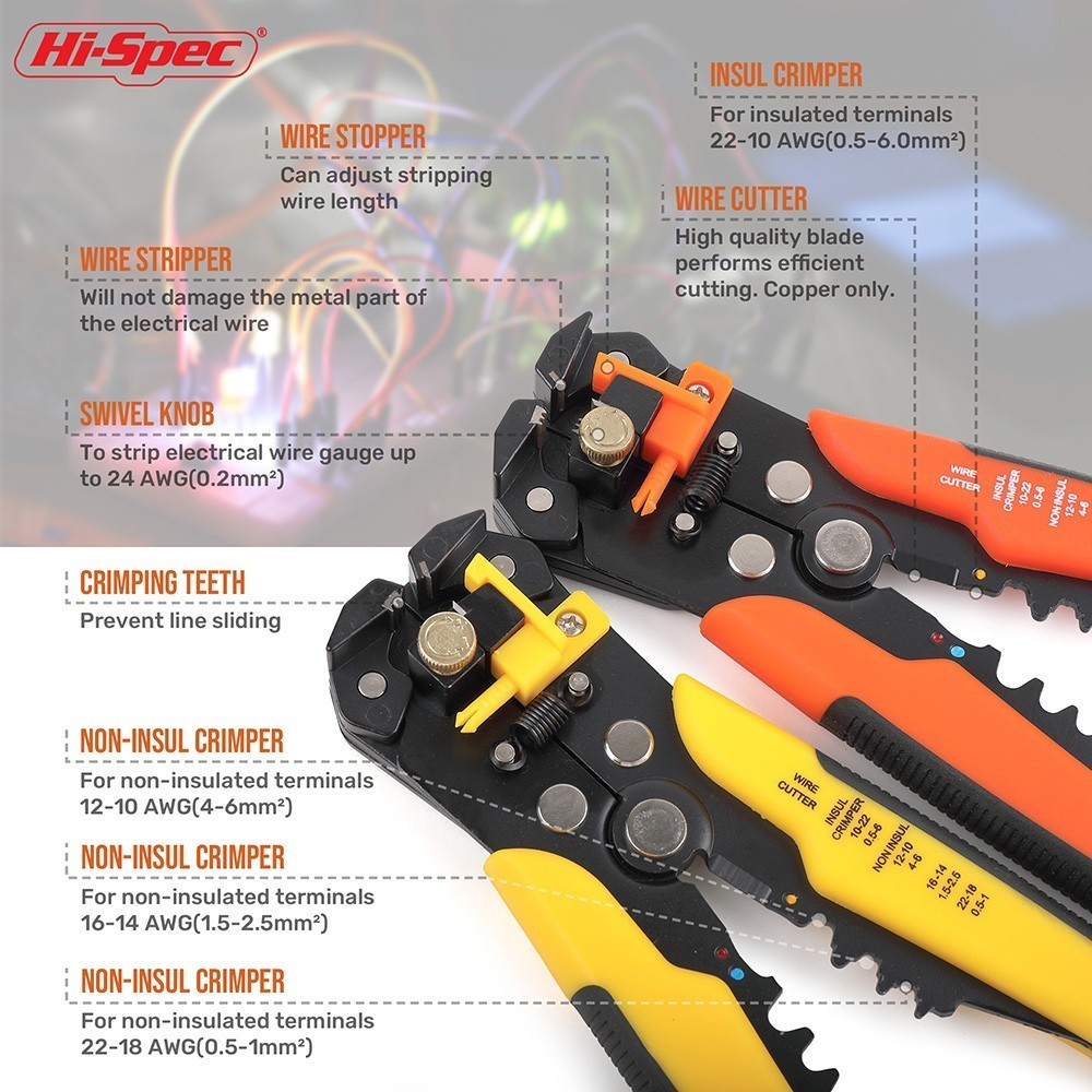 Automatic Wire Strippers New Hi-Spec Wire Strippers and Crimpers