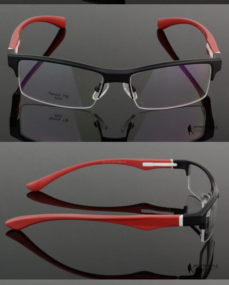 Vazrobe marca tr90 ojo Gafas Marcos hombres semi rimless ojo Gafas ...