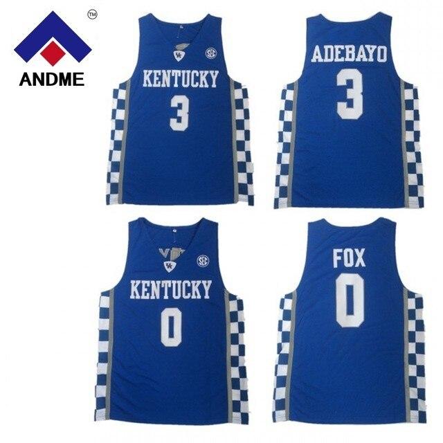 2018 Kentucky Wildcats College  3 Edrice Adebayo Basketball Jerseys  0  DeAaron Fox Jersey Basketball Jersey Cheap USA Jersey 9d70e82ca