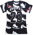 2016 Summer Pure American Special Cut T Shirt Men/Women JORDAN 23 Classic Shoes Printed 3D Streetwear Hip Hop T Shirts
