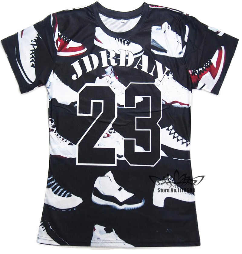 700fb2515 2016 Summer Pure American Special Cut T Shirt Men/Women JORDAN 23 Classic  Shoes Printed