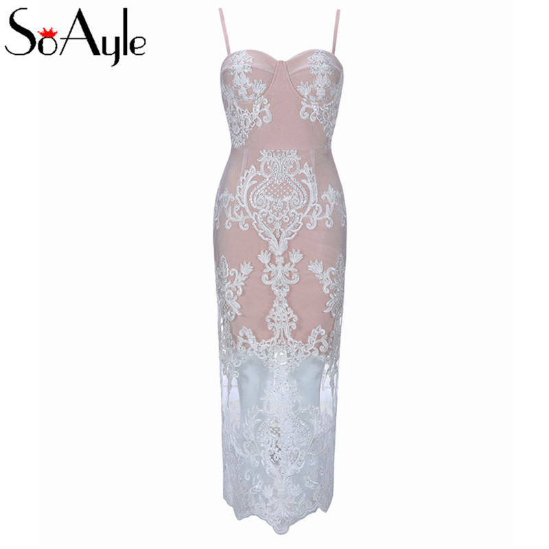 Celebrity Wedding Dresses 2019: SoAyle Tea Length Celebrity Night Party Dress 2019 Women