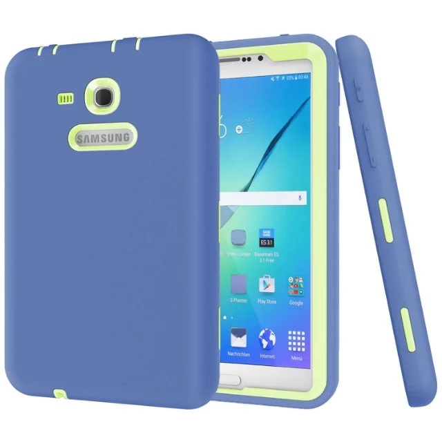 New 3 in1Cover For Samsung Galaxy Tab 3 Lite 7.0 Case Rugged Heavy Duty Shockproof Silicone Case For SM-T110/ SM-T111/ SM-T113