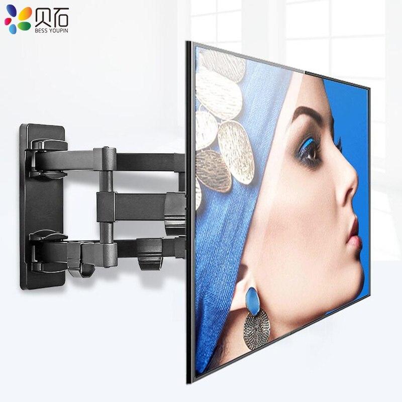 Plein Mouvement Rétractable LCD Support tv mural Montage Inclinable et Pivotant Mur Stand Réglable Bras De Montage idéal pour 32-70