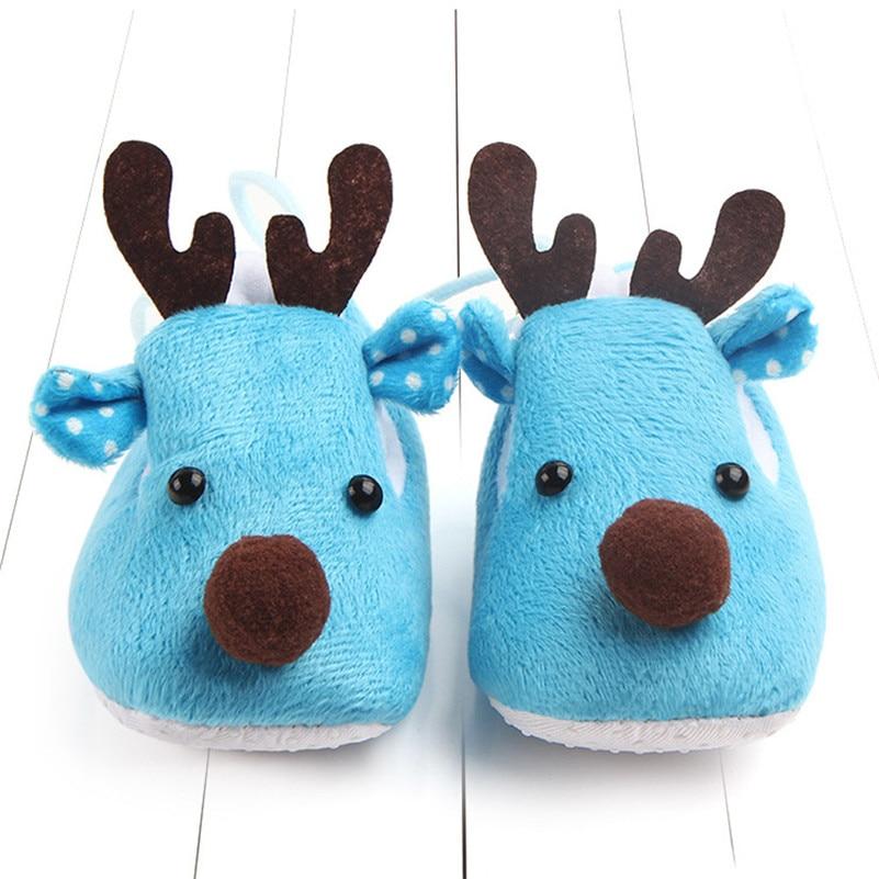 Newborn Infant Baby Boy Girl Christmas Crib Shoes Soft Sole Anti For Newborns Kid Footwear Chaussures  Bebek Ayakkabi QW