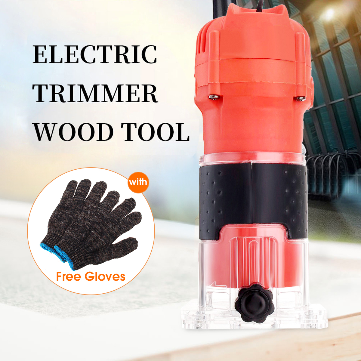 500W 14 Inch Electric Hand Trimmer Wood Laminate Router Joiners Tool 30000RPM for DIY Woodworking Power Tool