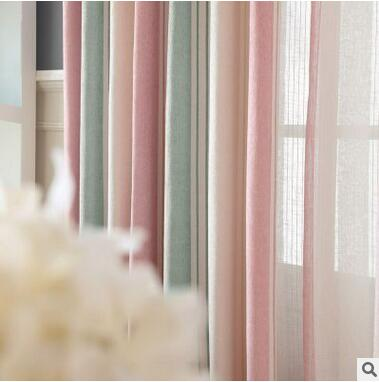 Neue Ankunft 2 Farbe Blau/Rosa Gestreiften Moderne/Mittelmeer Vorhänge Für  Wohnzimmer Mit Muster