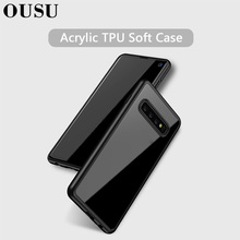 OUSU Invisible Airbag TPU Soft Case For samsung S10 lite Camera Lens Protection Silicon Transparent Cover plus
