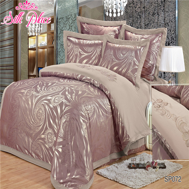 """Silk Place"" Europe Fashion Quality Bedding Set Luxury Duvet Cover Bed Sheet Pillowcases King Size Bedding Set"