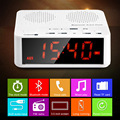 MX-017 FM Radio Wireless Bluetooth V2.1 Speaker with Desktop Alarm Clock LED Time Display TF Reader Hands Free AUX In