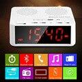 Rosimee Fm-радио Беспроводная Связь Bluetooth V2.1 Спикер с Рабочего Стола Будильник LED Дисплей Времени Читатель TF Hands Free AUX In