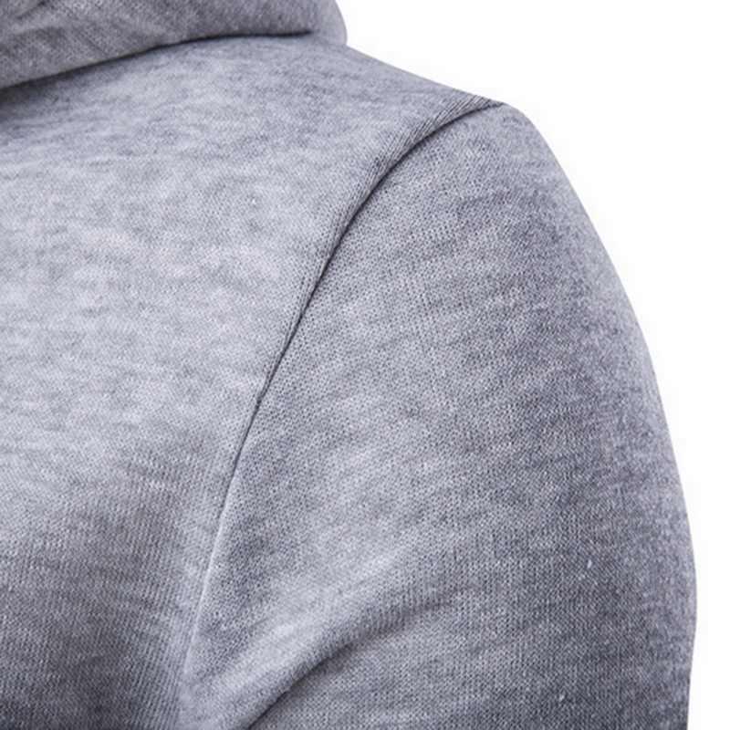 Litthing 2019 Autumn Hoodies&Sweatshirts Men Fashion Zipper Hip  Cardigan Jacket Casual Pleated Pockets Sportwear Sweatshirt