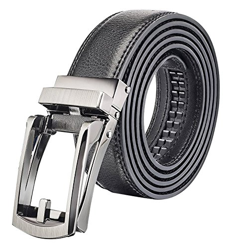 Black/Brown plain men's leather belt