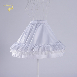 Image 3 - Czarna moda biała suknia balowa podkoszulek huśtawka na krótką sukienkę halka Lolita baletowa spódniczka tutu spódnica Rockabilly krynolina