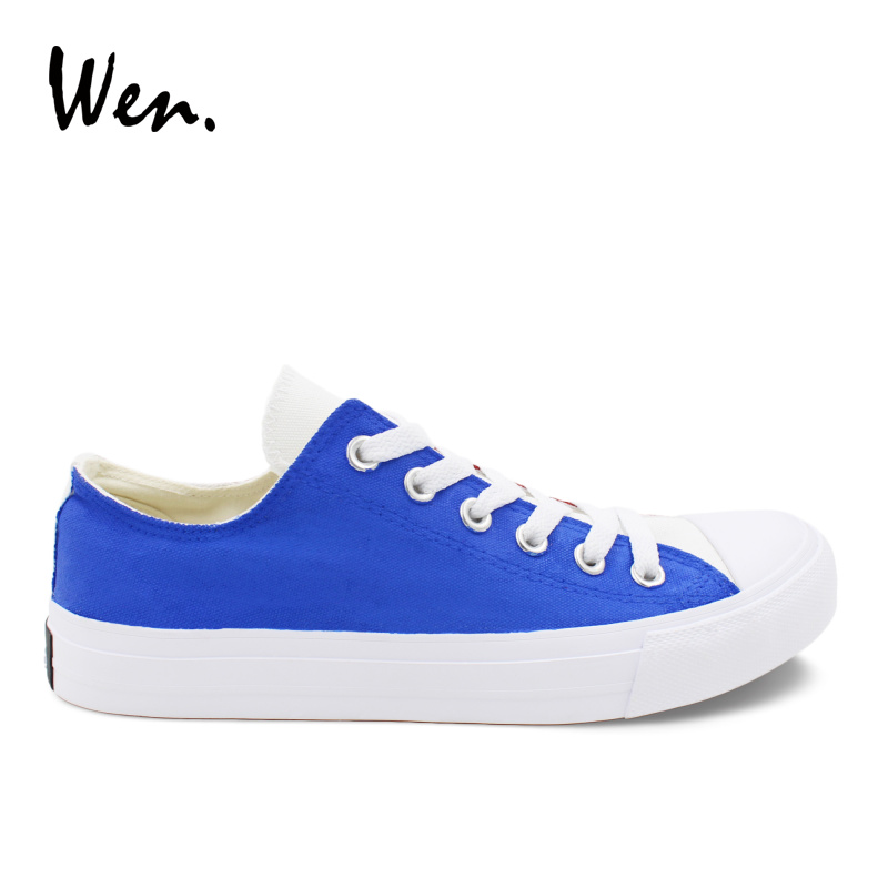 Wen Men Casual Shoes Low Top Flat Original Design France Flag Hand Painted Canvas Shoes Unisex Sneakers Lace up Loafers e lov women casual walking shoes graffiti aries horoscope canvas shoe low top flat oxford shoes for couples lovers
