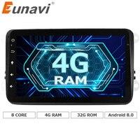 Eunavi 2 Din Android 8 0 8 Octa Core Car Radio GPS Navigation For VW Golf