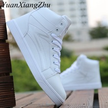 Fashion Men Casual Shoes Black Lace-Up Casual Ankle Boots Hip-hop High Help Men Shoes 2018 New Comfortable Flat Adult Male Shoes цена 2017