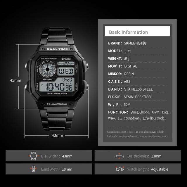 2018 SKMEI Men Sports Watches Waterproof Mens Watches Top Brand Luxury Male Electronic Digital Watch Men Clock Relogio Masculino