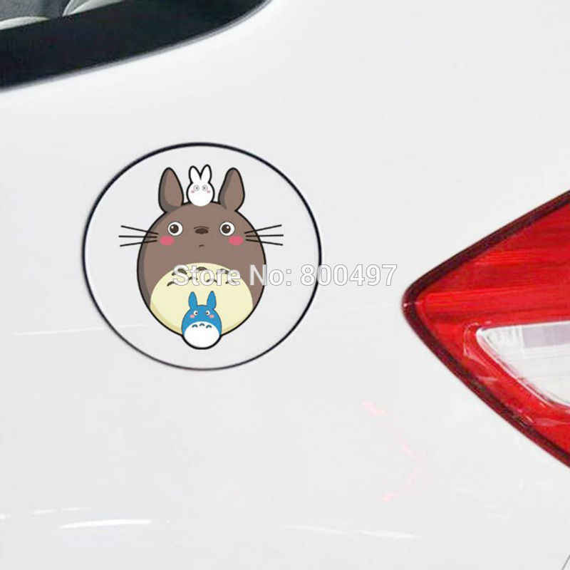 Voiture-style drôle dessin animé joli chat Totoro voiture autocollants moto autocollants pour Toyota Ford Focus 2 Chevrolet VW Opel Tesla Lada