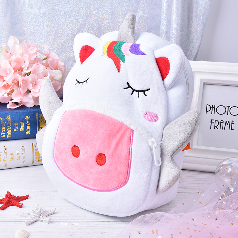 3D Cartoon For Girls Boys Animal Lovely Unicorn Backpack Baby Kids School Bags Plush Children Backpacks Kindergarten Schoolbag girls animal school bags backpack 3d dinosaur backpack for boys children backpacks kids kindergarten small schoolbag