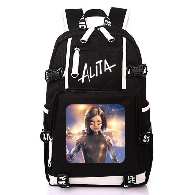Alita Battle Angel Super Hero Movie Backpack Student School Bags for Men Woman Rucksack Mochila Bag
