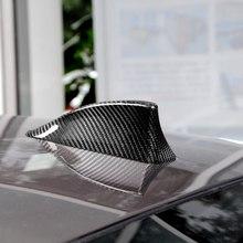Carbon Fiber Car Antenna Cover Shark Fin Decorative Sticker Modification Styling Accessory For BMW Full Range